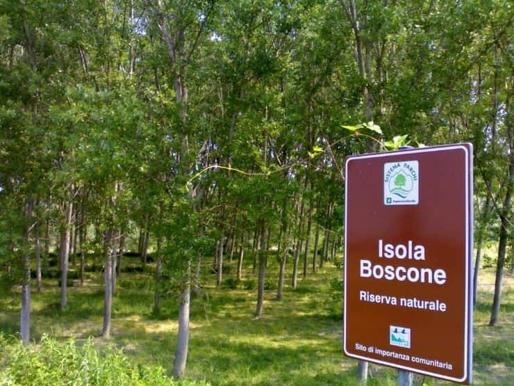 isola boscone riserva naturale